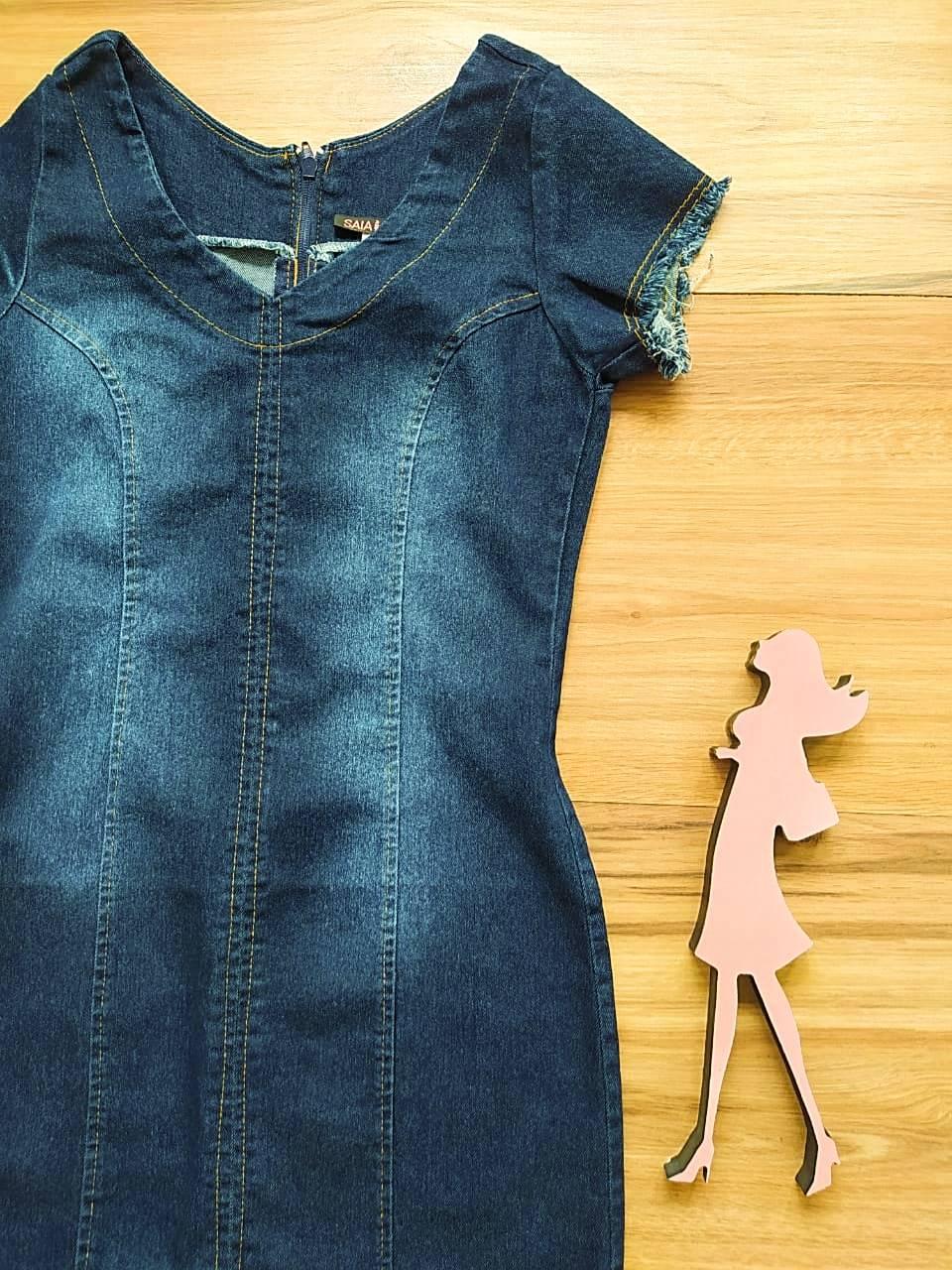 Vestido Jeans Ryana Saia Bella SB75250