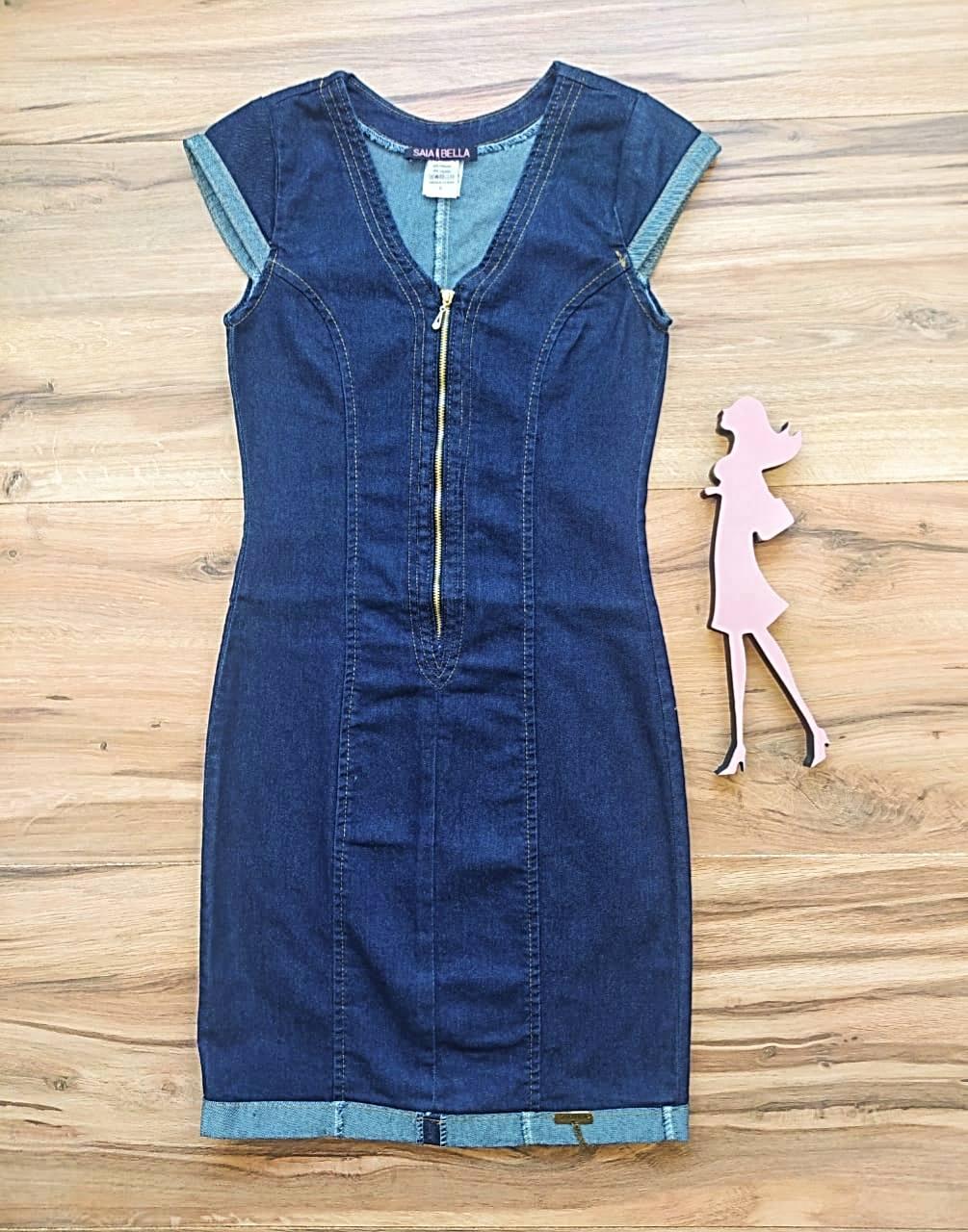Vestido Jeans Versales Saia Bella SB5124