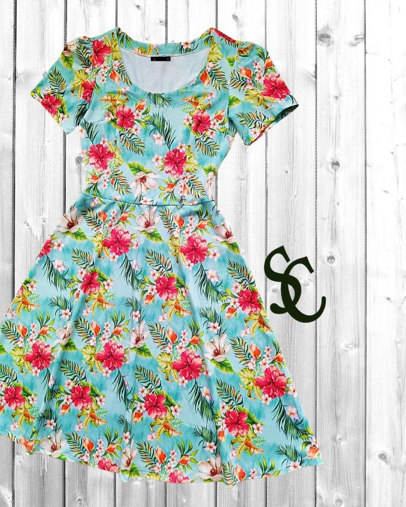 Vestido Julia Roberts By Simmone Carvalho - SC3319_azul