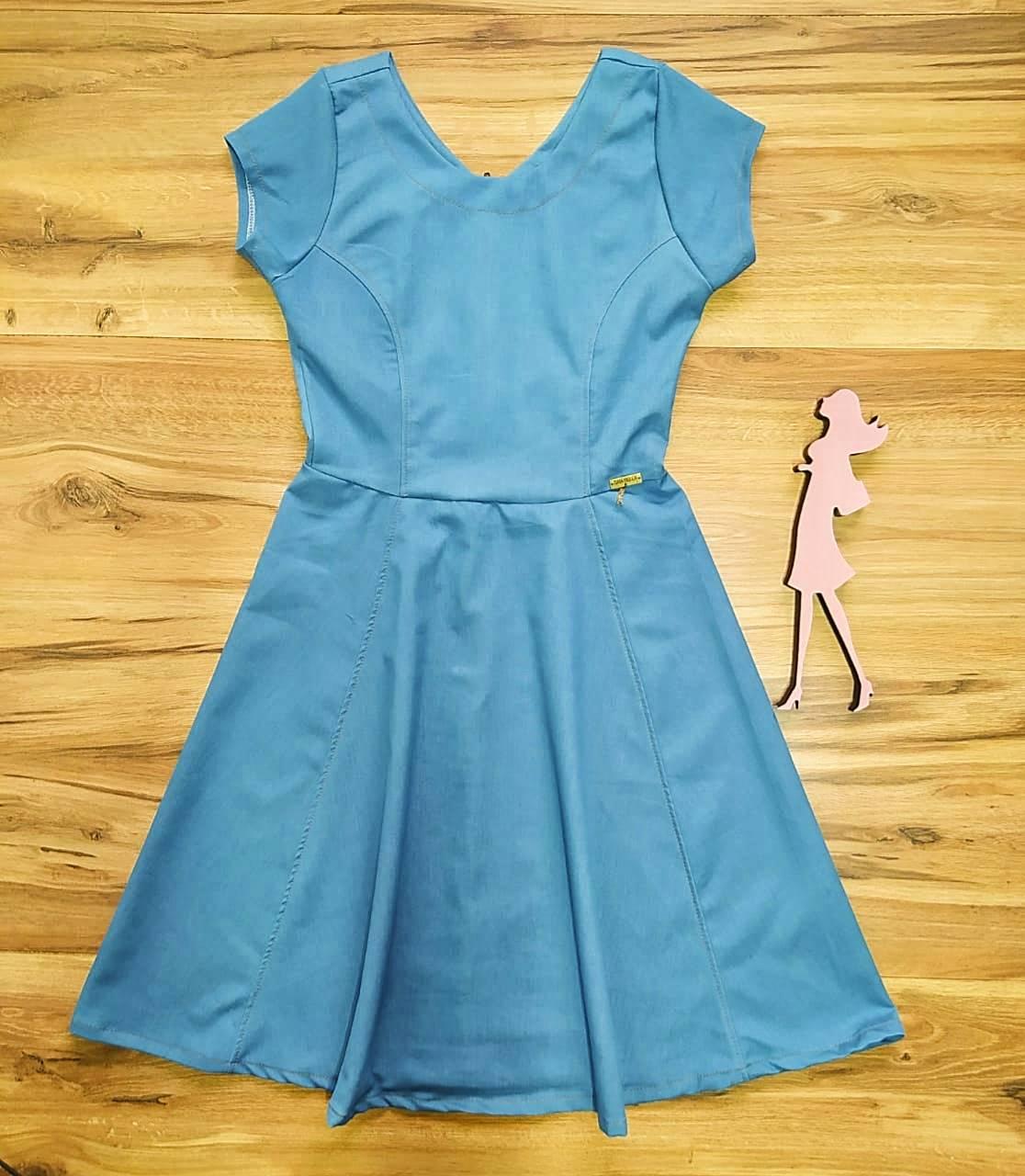 Vestido Julietta Saia Bella SB97501 - Azul claro