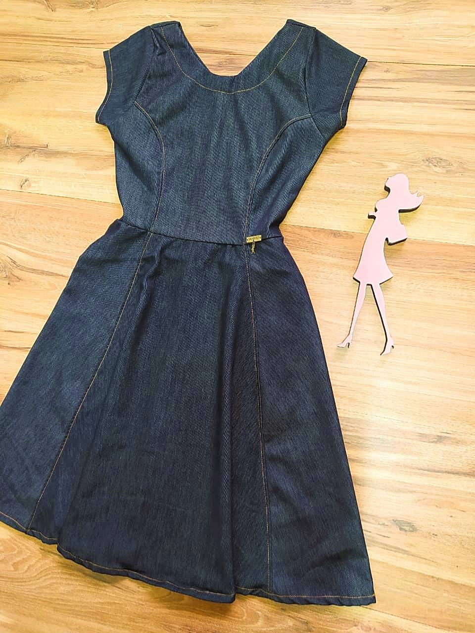 Vestido Julietta Saia Bella SB97501 - Preto