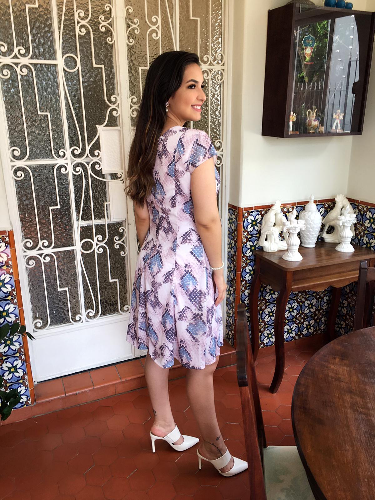 Vestido Laura By Simmone Carvalho - SC1300 Azul