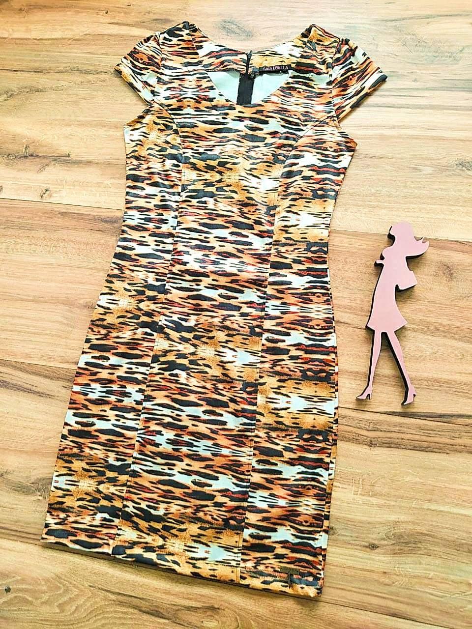 Vestido Lays modelo Tubinho Saia Bella SB60001