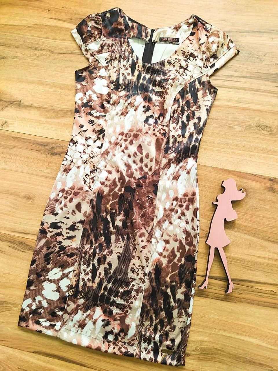 Vestido Lays modelo Tubinho Saia Bella SB60001 B