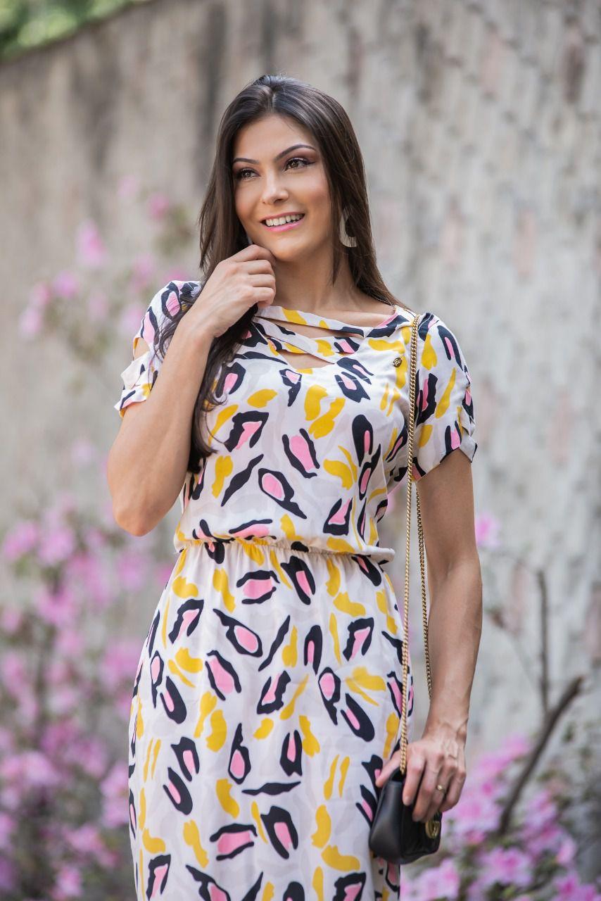 Vestido Leticia Bege SBL1808A
