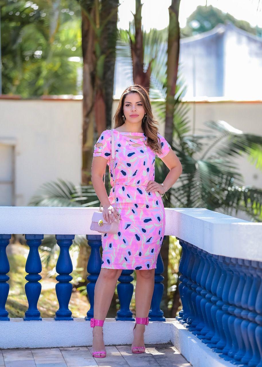 Vestido Leticia Rosa SBL1808