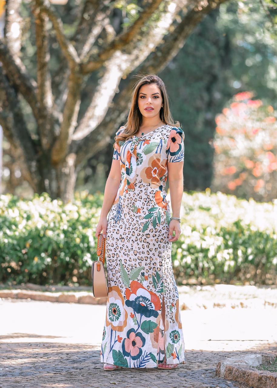 Vestido Longo Alice Laranja SBL1798A
