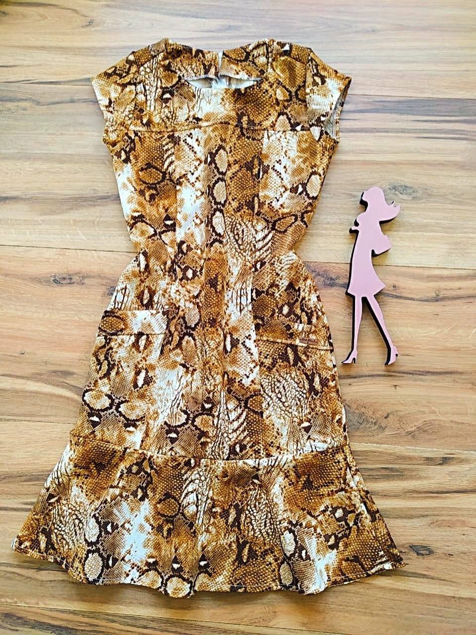 Vestido Lúcia   Saia Bella SB5611 - Marrom