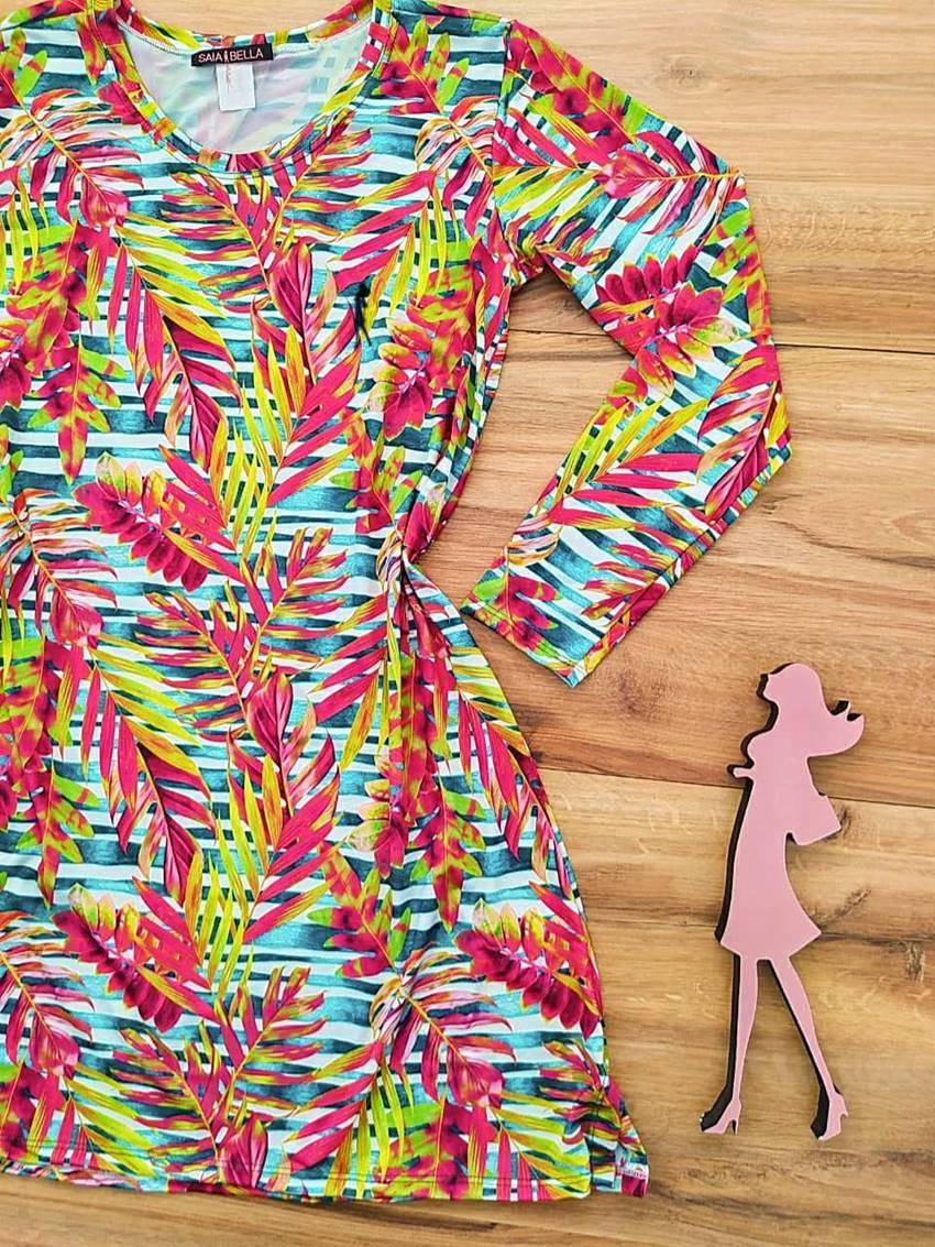 Vestido Maresias Moda Praia Saia Bela - SBF012