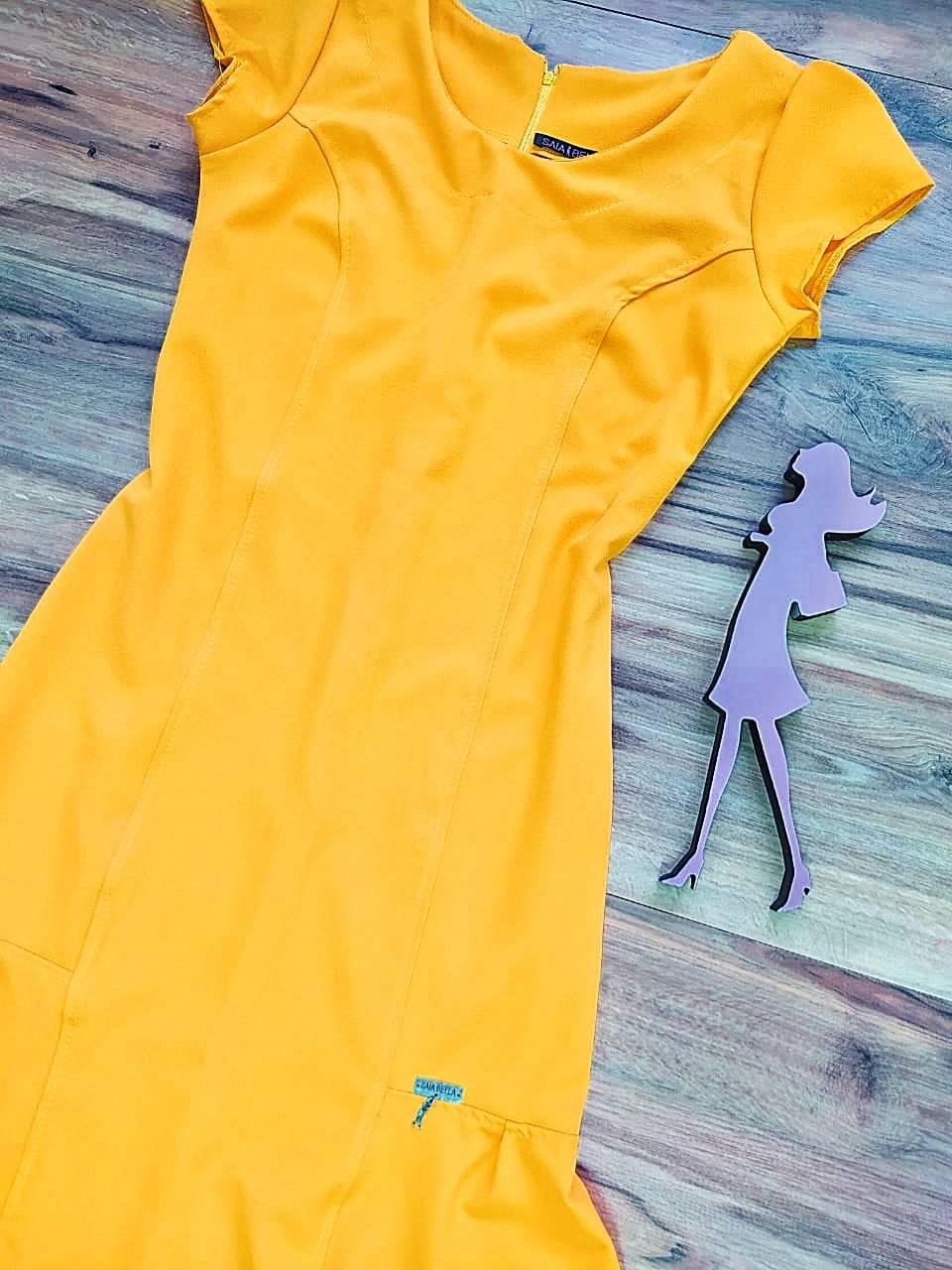 Vestido Margarida 2.0 Saia Bella SB75122 - Amarelo