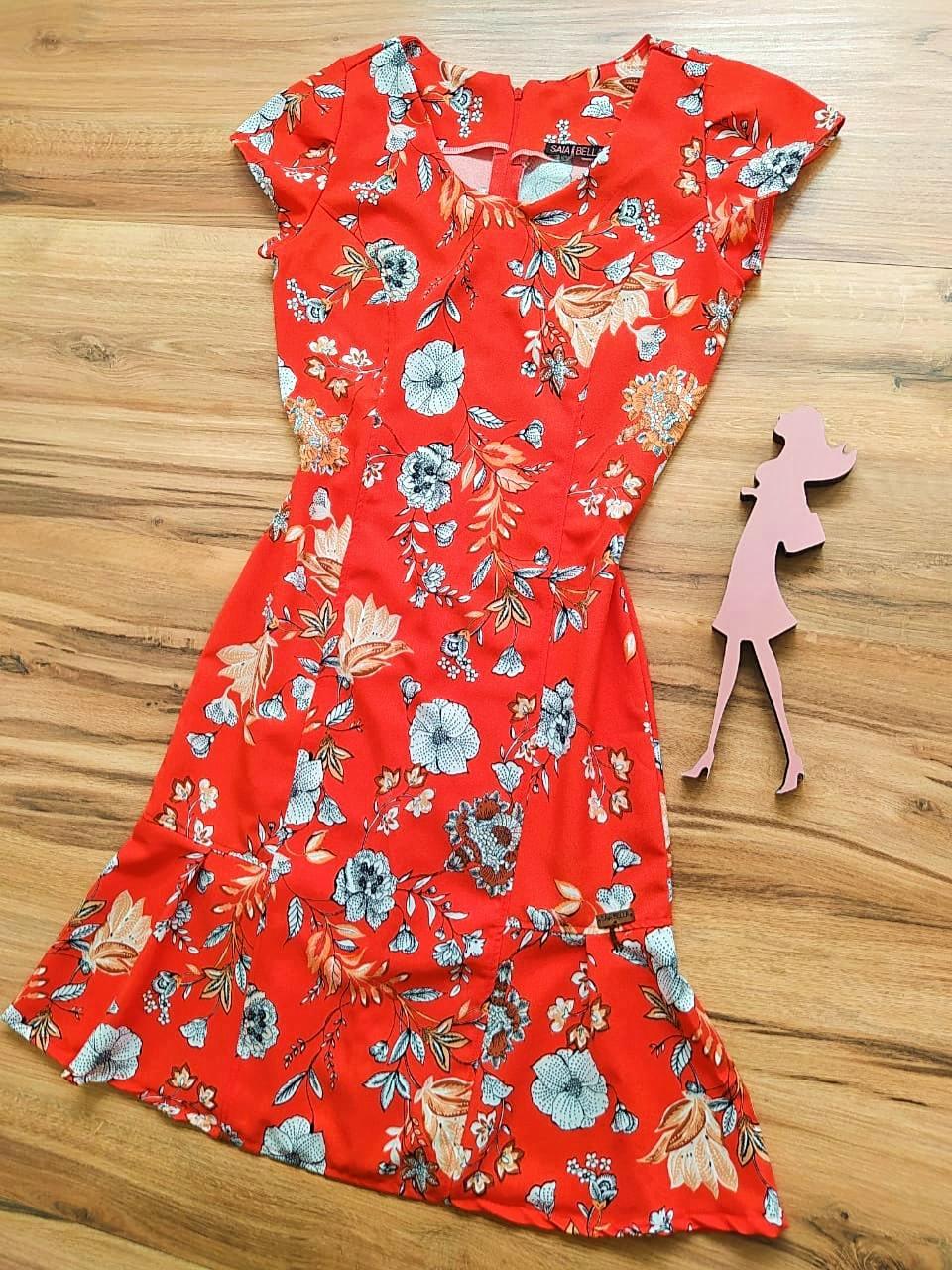 Vestido  Margarida Saia Bella SB75122 - D