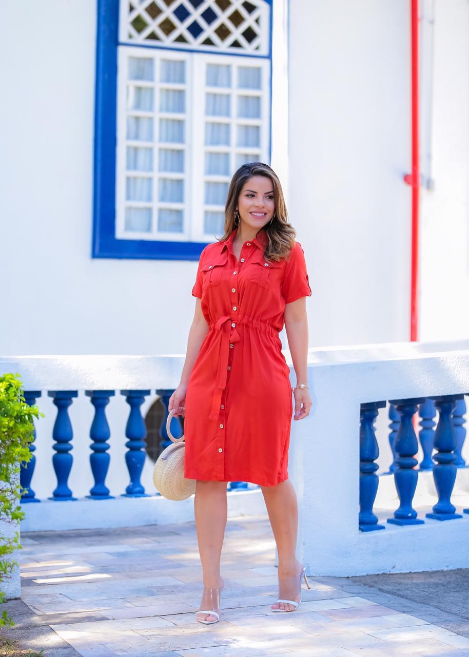 Vestido Mariana Ferrugem SBL1811A