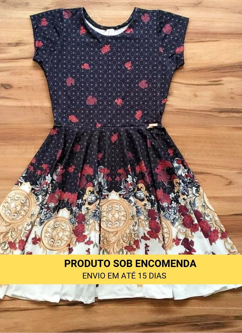 Vestido Midi Bem Te Vi Saia Bella cod SBE022