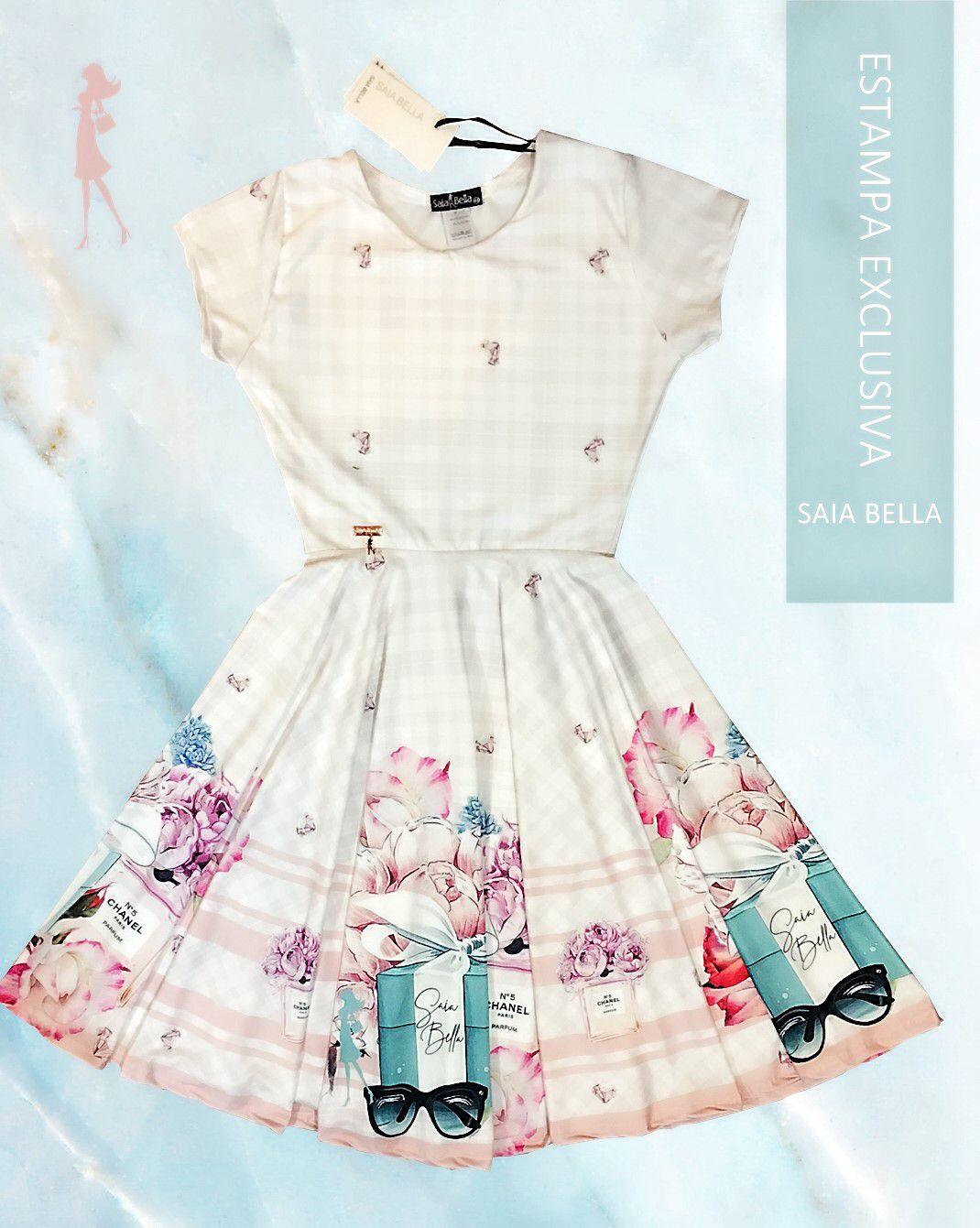 Vestido Midi Chanel Saia Bella cod SBE002 - PRONTA ENTREGA