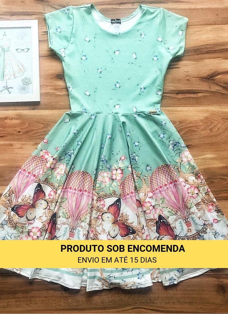Vestido Midi Encanto Saia Bella cod SBE019_verde