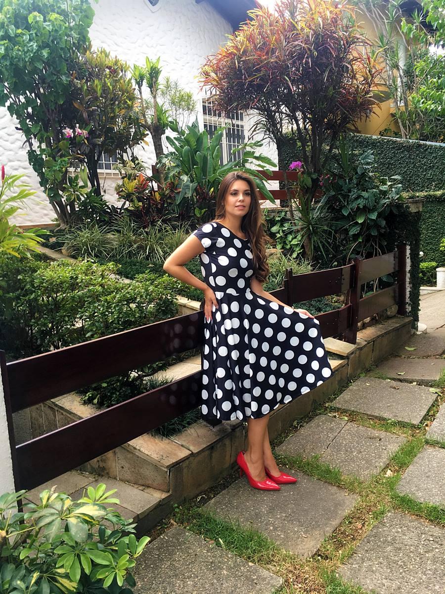 Vestido Midi Fernanda Saia Bella cod SB815