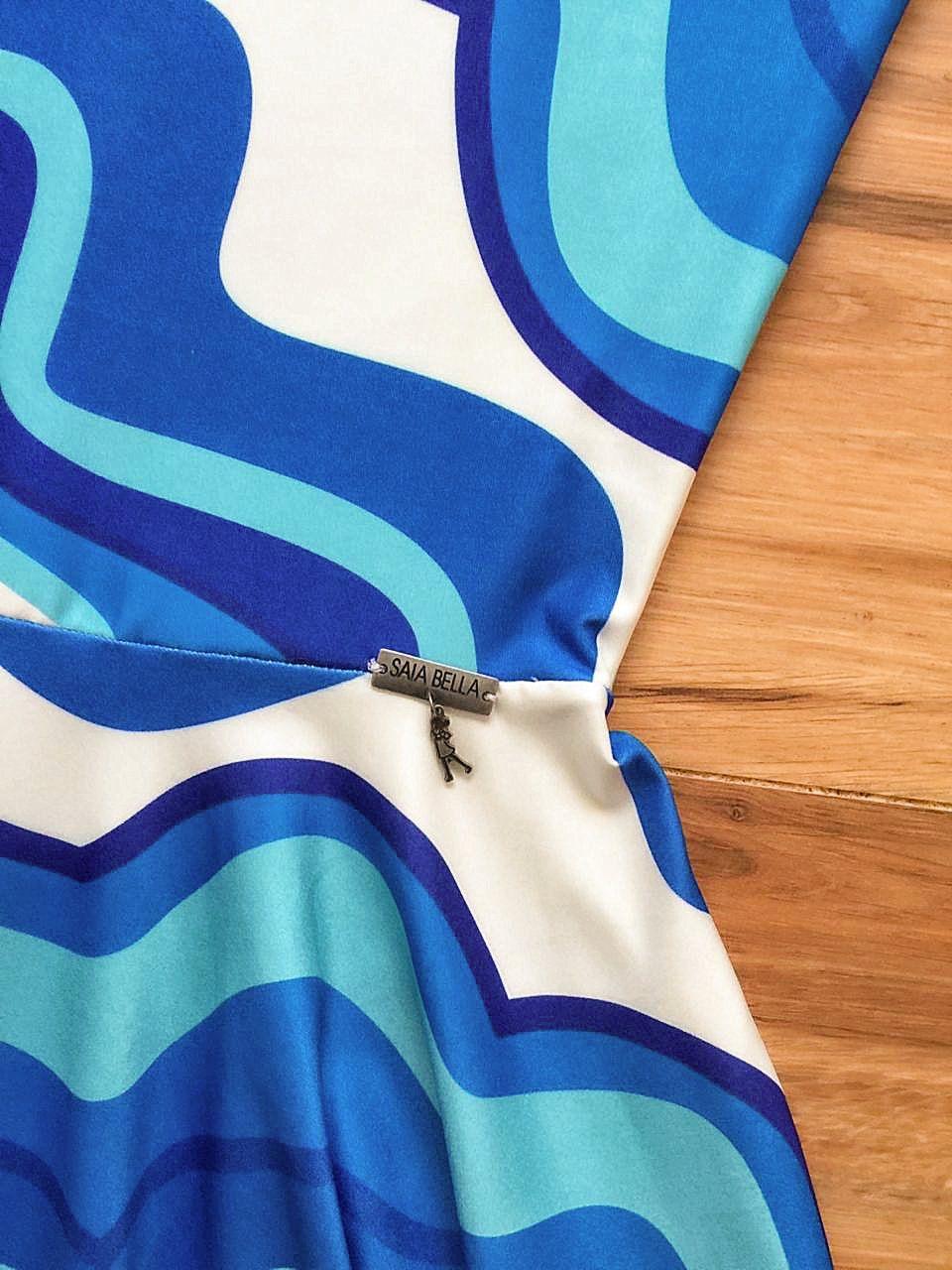 Vestido Midi Luana Saia Bella cod SB814