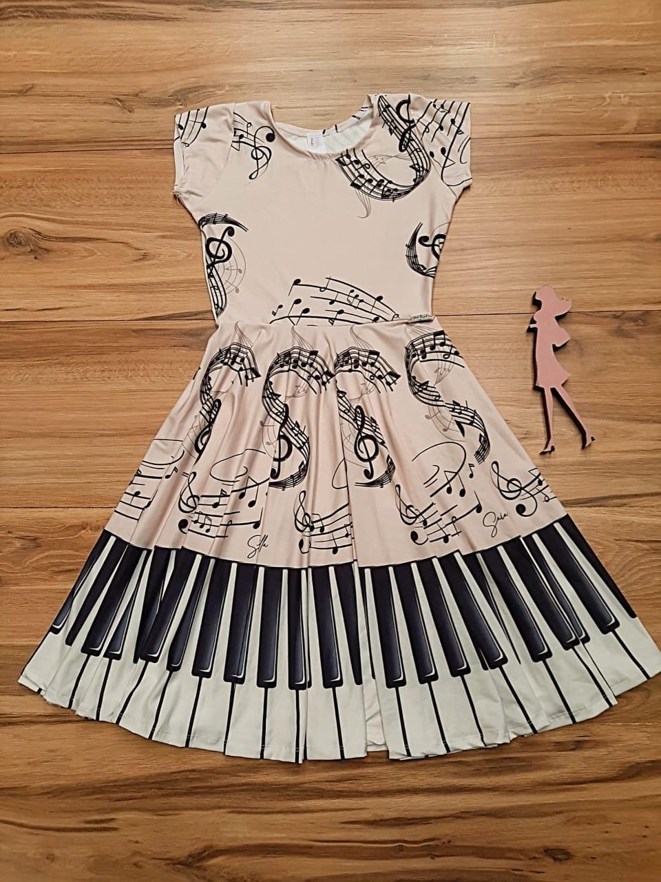 Vestido Midi Mozart Saia Bella cod SB886B