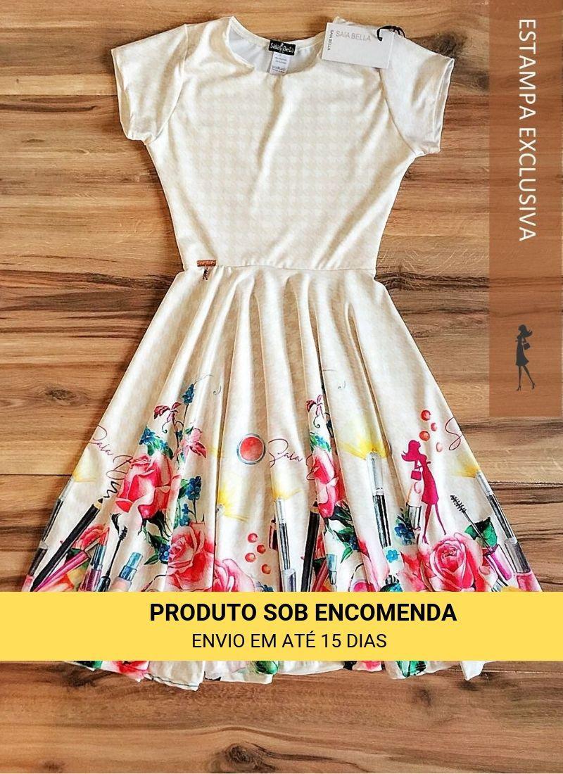 Vestido Midi Rímel Saia Bella cod SBE010