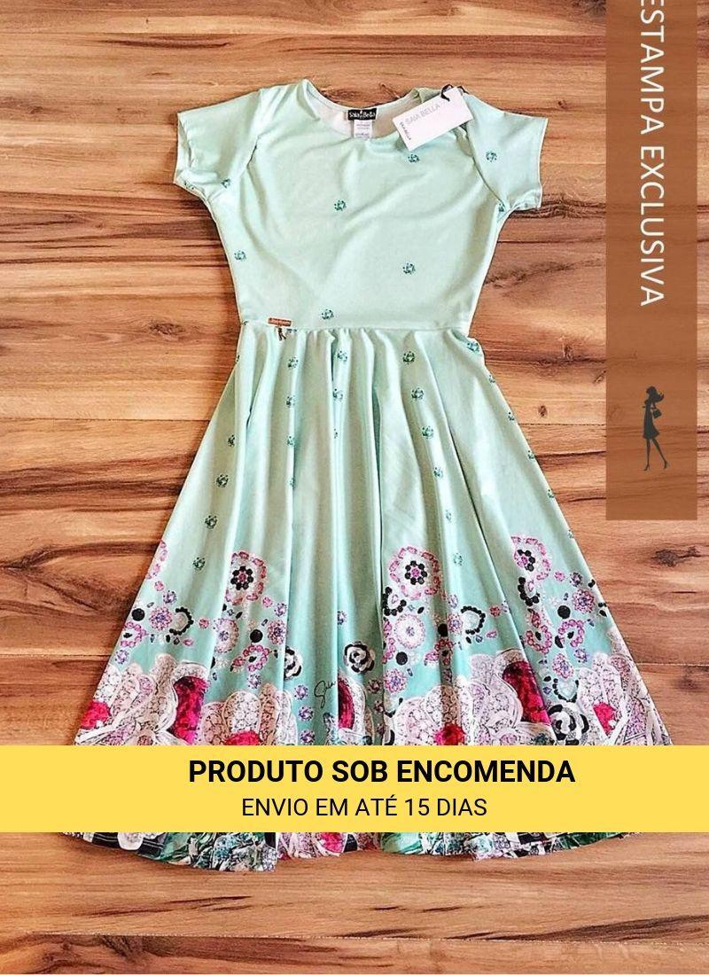 Vestido Midi Rubi Saia Bella cod SBE008