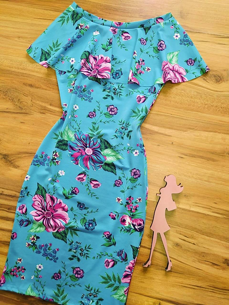 Vestido Milah Saia Bella SB8410050 - Azul