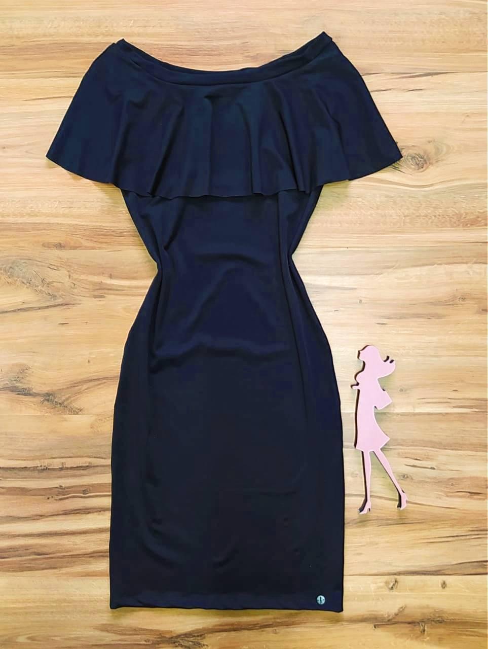 Vestido Milah Saia Bella SB8410050 - Preto
