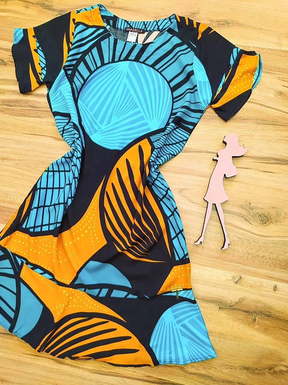 Vestido Peplum Estampado Saia Bella SB4410580 - 2
