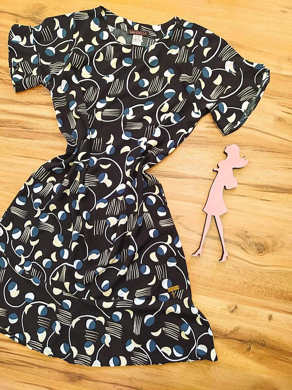 Vestido Peplum Estampado Saia Bella SB4410580 - 3
