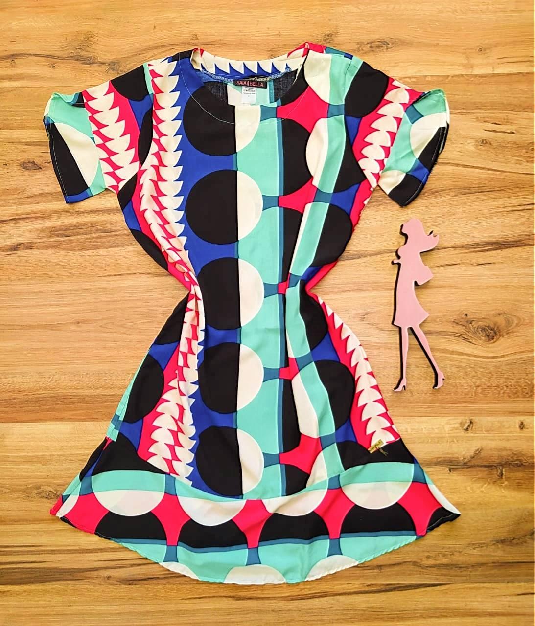 Vestido Peplum Estampado Saia Bella SB4410580 - 4