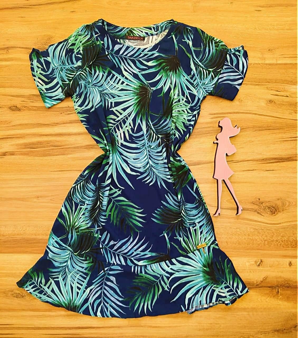 Vestido Peplum Estampado Saia Bella SB4410580 - 5