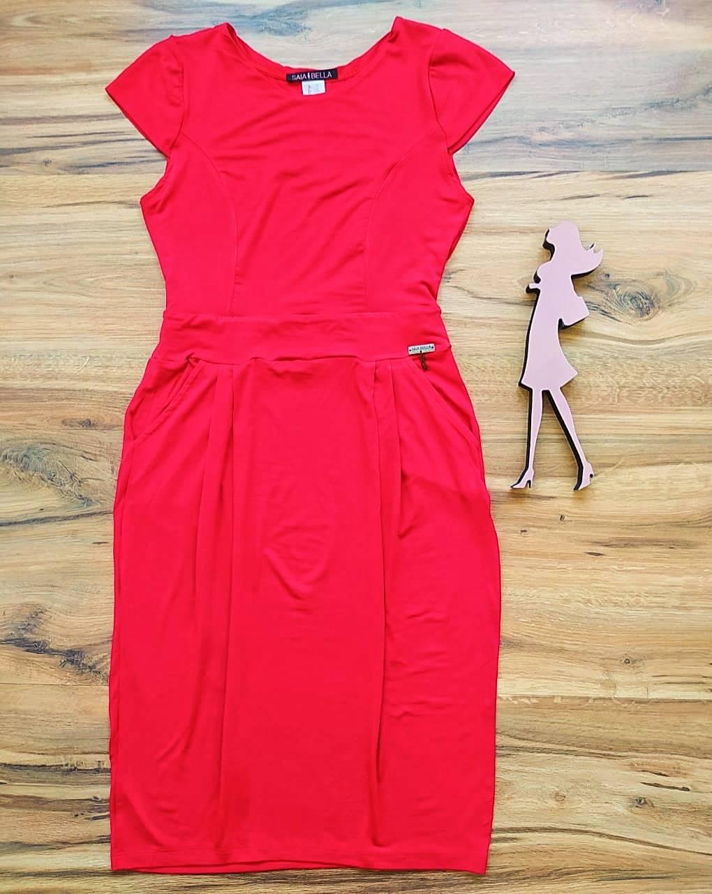 Vestido Polly modelo Reto Saia Bella SB3956  Vermelho