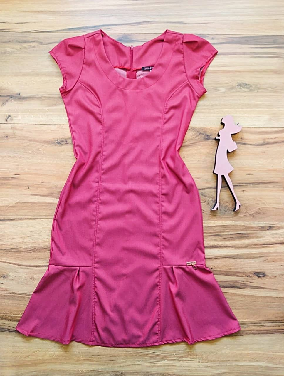 Vestido Rosane Saia Bella SB5612 - Cereja