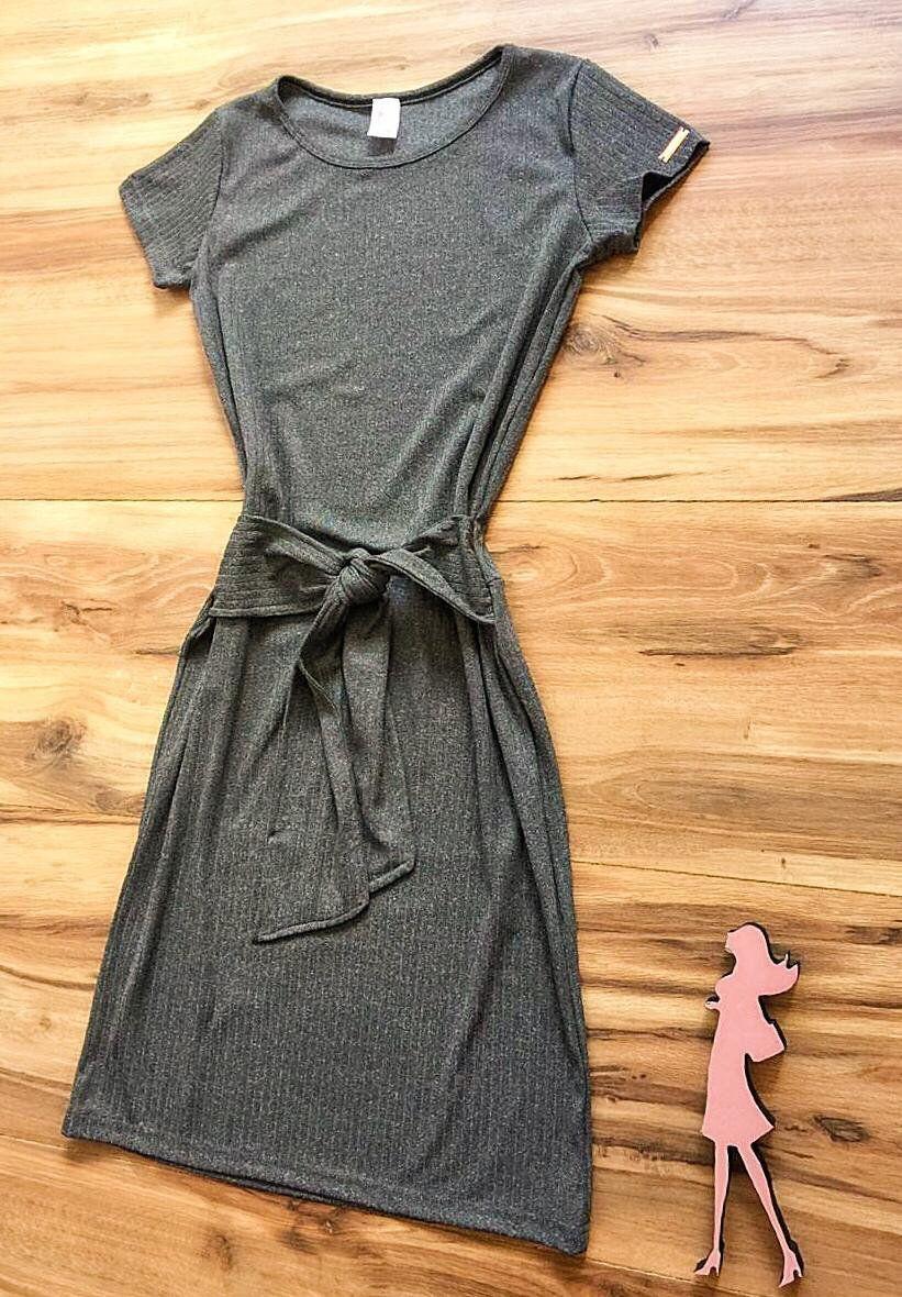 Vestido Saia Bella Lara SB3846 Cinza