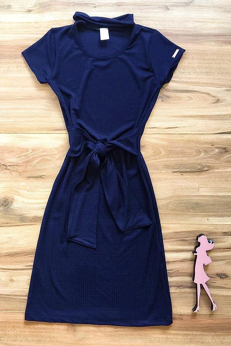 Vestido Saia Bella Mia SB3844 Azul Marinho