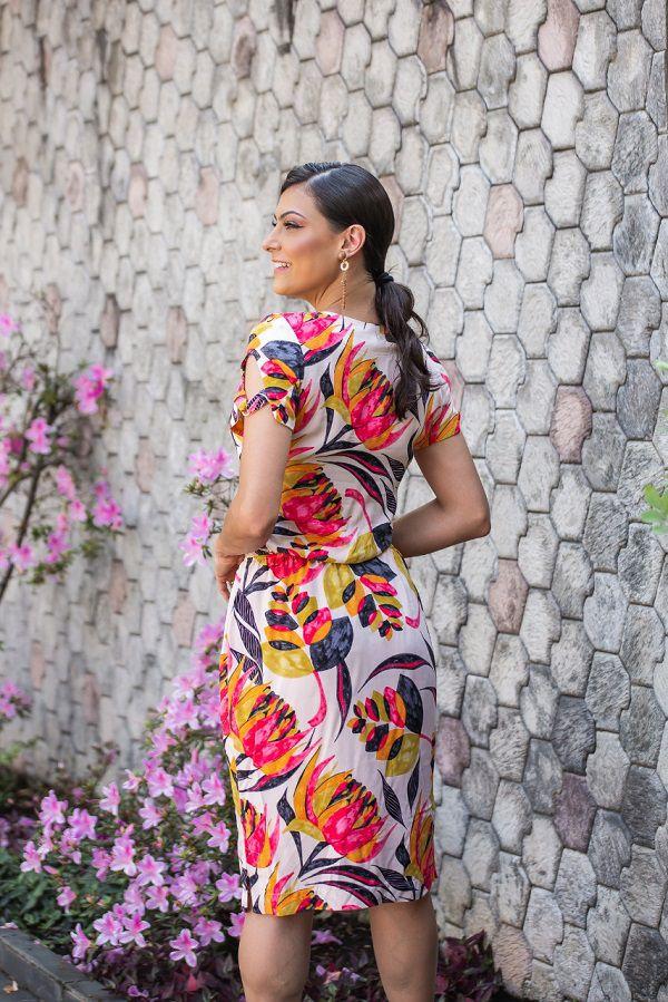 Vestido Selma Palha SBL1810A