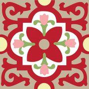 Adesivo para Azulejo Ladrilho Hidráulico Granada Vinil 15x15cm 16 peças Cosi Dimora