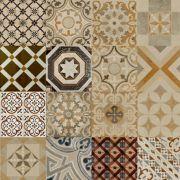 Adesivo para Azulejo Ladrilho Hidráulico Mosaico Tradicional Vinil 15x15cm 16 peças Cosi Dimora