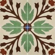 Adesivo para Azulejo Ladrilho Hidráulico Olivenza Vinil 15x15cm 16 peças Cosi Dimora