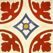 Adesivo para Azulejo Ladrilho Hidráulico Palma Vinil 15x15cm 16 peças Cosi Dimora