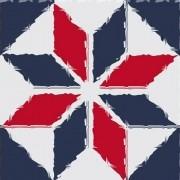 Adesivo para Azulejo Moderno Estrelar 15x15cm 16 peças Cosi Dimora