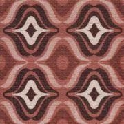Adesivo para Azulejo Patchwork Marrom Bocas Vinil 15x15cm 16 peças Cosi Dimora