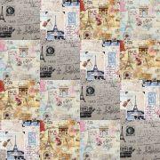 Adesivo para Azulejo Patchwork Mosaico Paris Vinil 15x15cm 16 peças Cosi Dimora