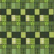 Adesivo para Azulejo Patchwork Xadrez Verde Vinil 15x15cm 16 peças Cosi Dimora