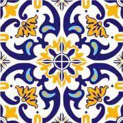 Adesivo para Azulejo Português Abrantes Vinil 15x15cm 16 peças Cosi Dimora