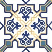 Adesivo para Azulejo Português Alfena Vinil 15x15cm 16 peças Cosi Dimora