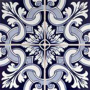 Adesivo para Azulejo Português Porto Vinil 15x15cm 16 peças Cosi Dimora