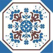 Adesivo para Azulejo Português Santana 15x15cm 16 peças Cosi Dimora