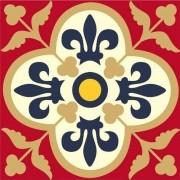 Adesivo para Azulejo Português Santarém 15x15cm 16 peças Cosi Dimora