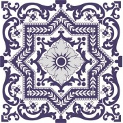 Adesivo para Azulejo Português Tejo 15x15cm 16 peças Cosi Dimora
