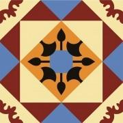 Adesivo para Azulejo Retrô Alcaide Vinil 15x15cm 16 peças Cosi Dimora